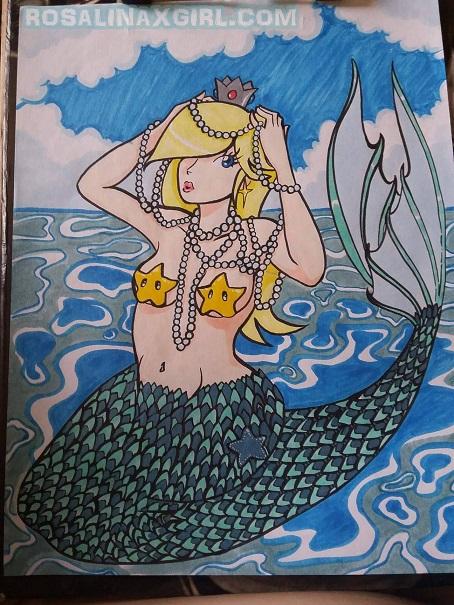 princess Rosalina nintendo sexy beach mermaid transformation