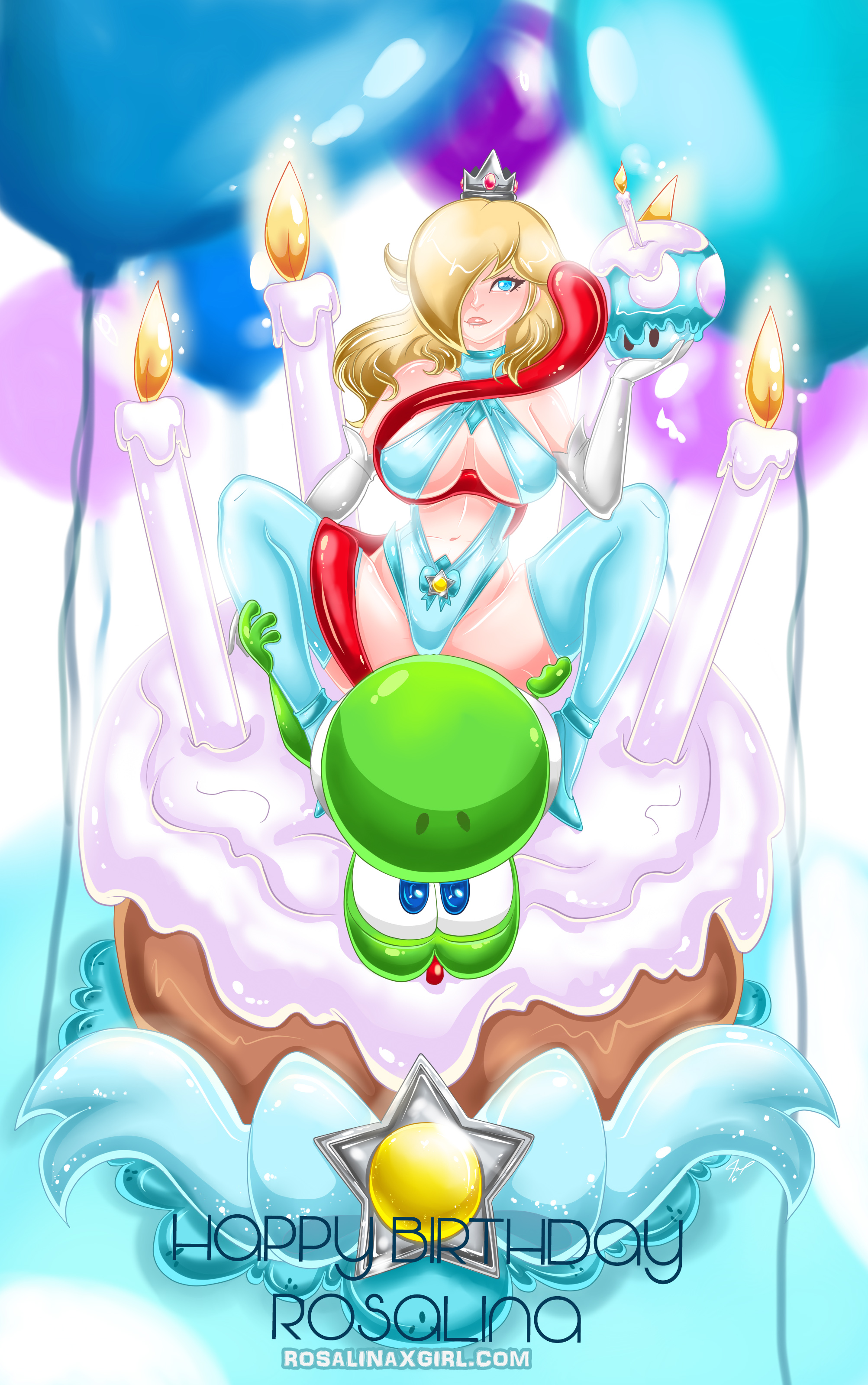 princess Rosalina Nintendo yoshi sexy tentacle tongue birthday