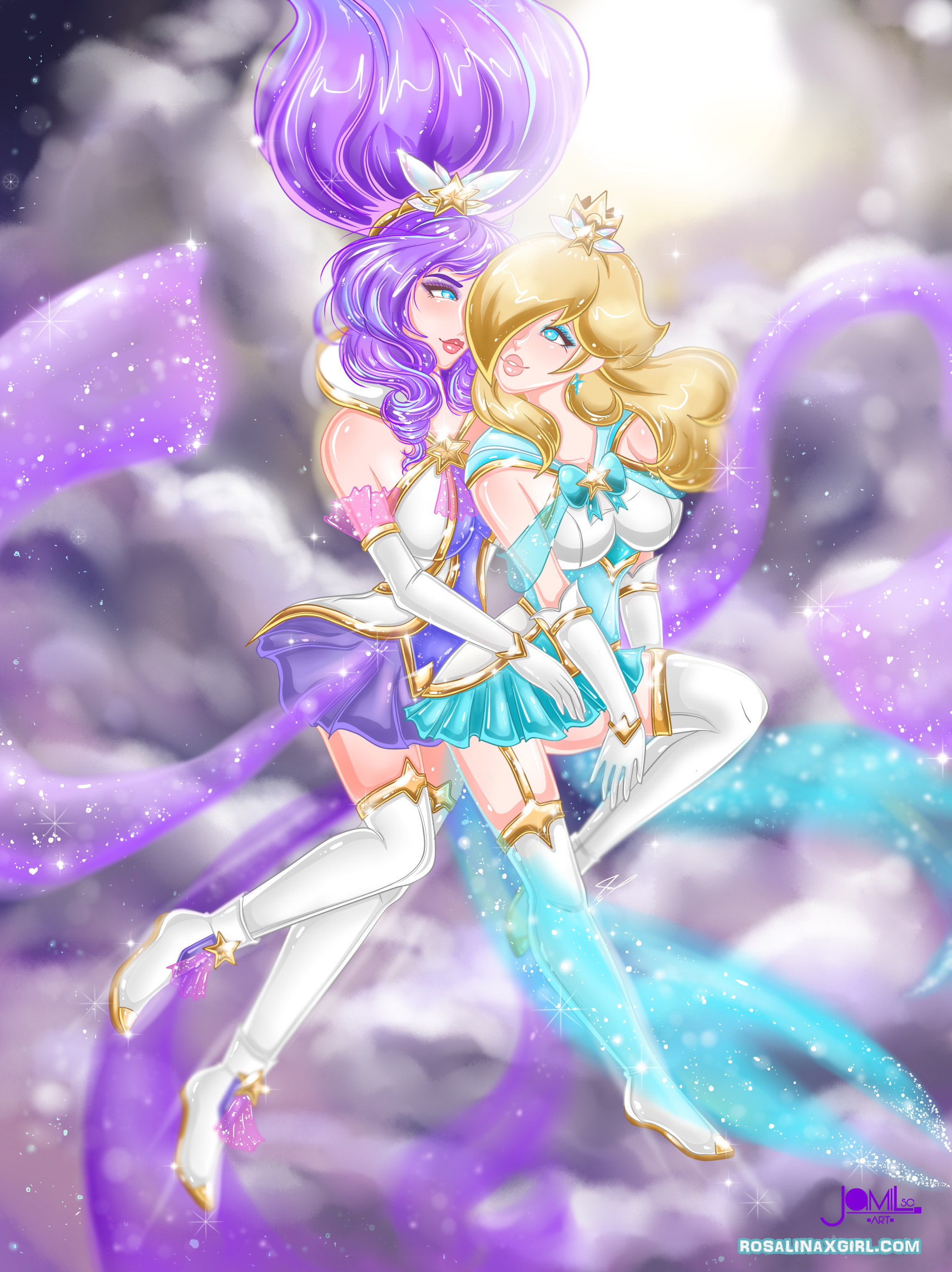 princess rosalina Nintendo star guardian Janna crossover league legends
