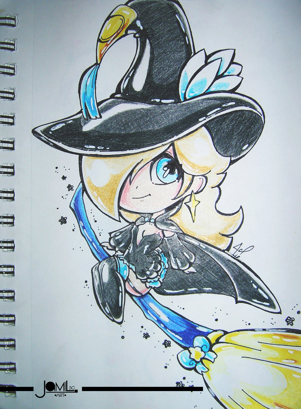 princess Rosalina nintendo square enix bravely default second black mage dress