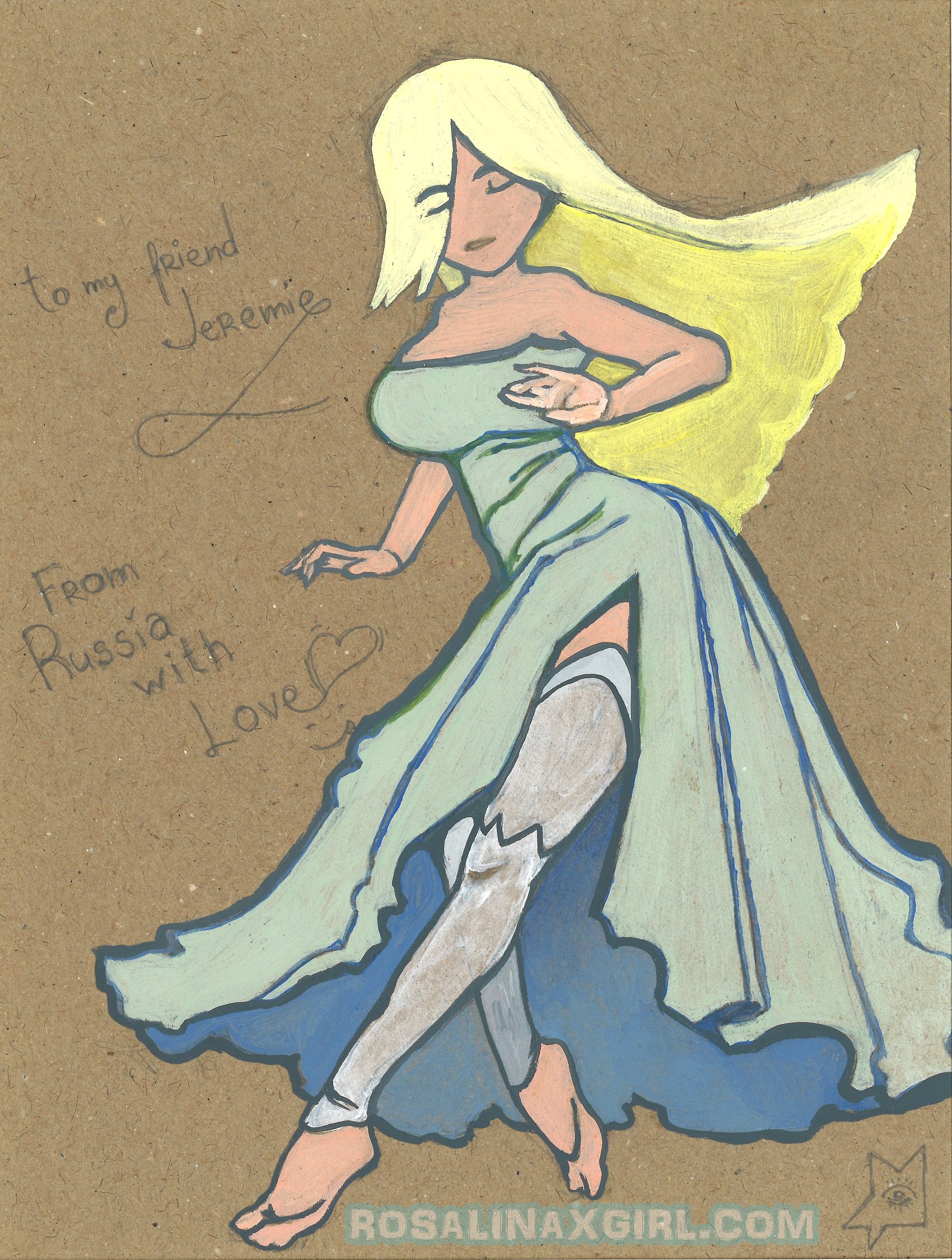 nintendo mario princess rosalina traditional art