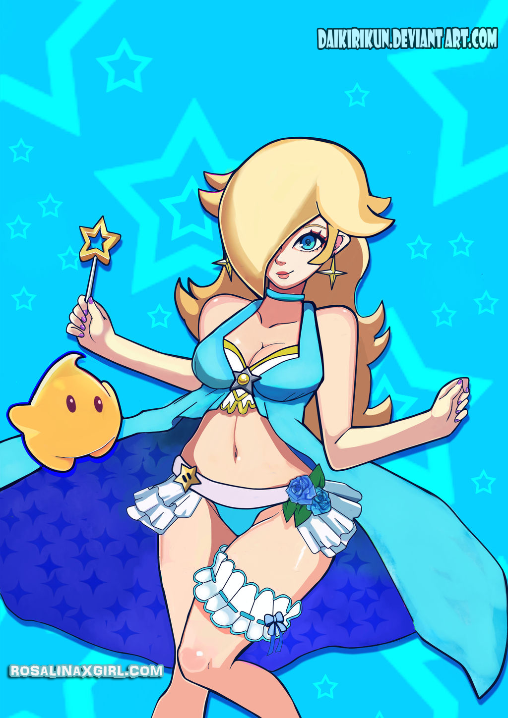 nintendo mario princess rosalina luma cute swimsuit remake alternative