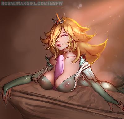 princess Rosalina nintendo sexy hentai porn toy dildo busty