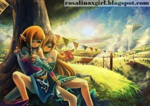 princess Rosalina nintendo ecchi yuri lesbian legend of zelda skyward sword blackcenturies