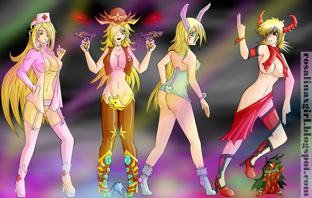 nintendo mario princess rosalina sexy crossover uniform costume nurse cowgirl pokemon cynthia bunny bunnygirl demon