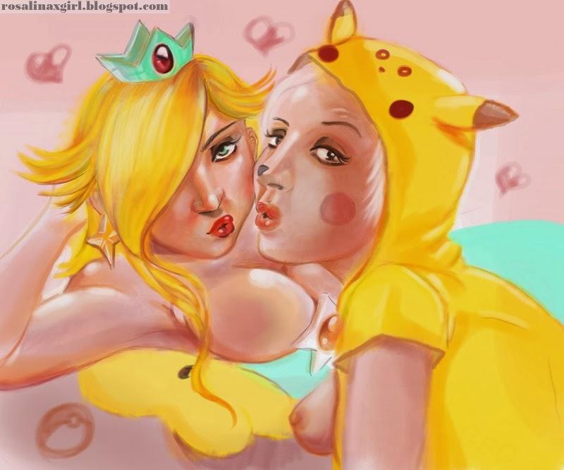 nintendo mario princess rosalina sexy ecchi pokemon pikachu gijinha kigurumi