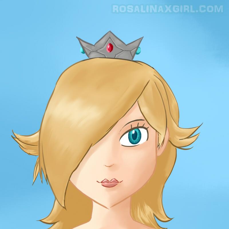 Rosalina Nintendo cute bust smile