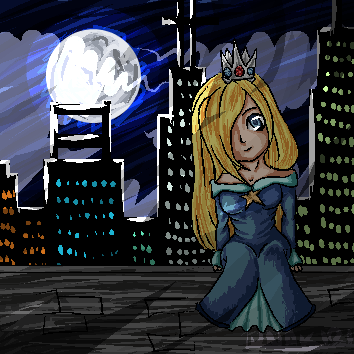 Rosalina Nintendo pixel art