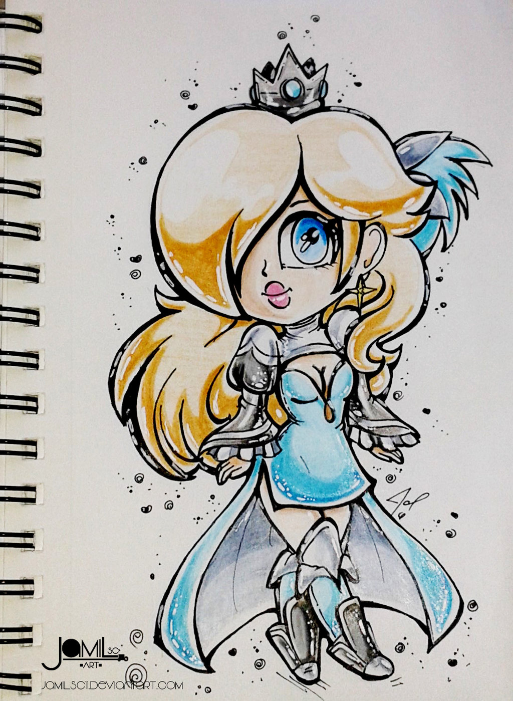 princess Rosalina nintendo square enix bravely default second freelancer dress