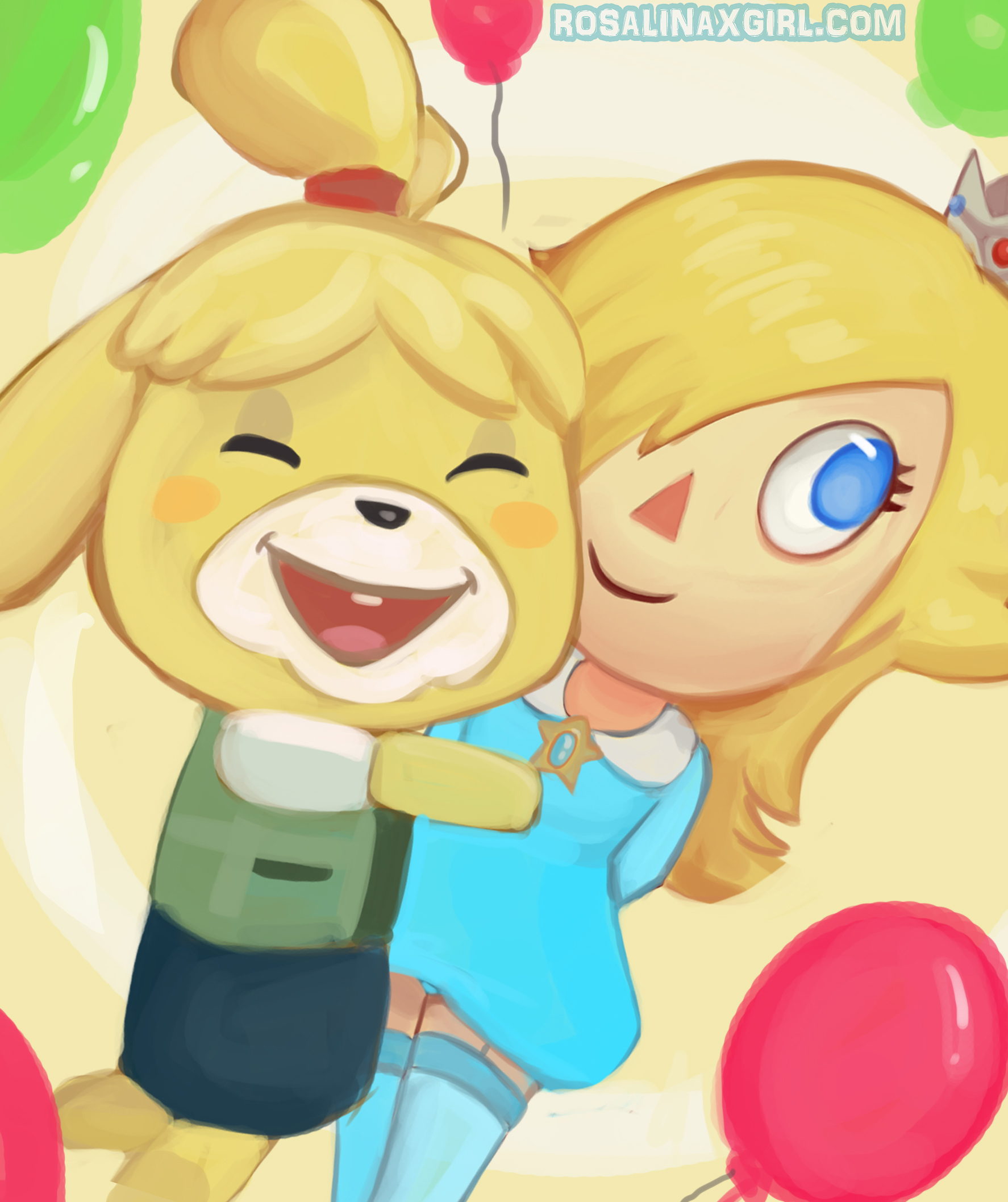 princess Rosalina nintendo animal crissing style isabelle