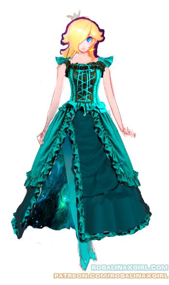 princess Rosalina nintendo sexy Victorian dress design