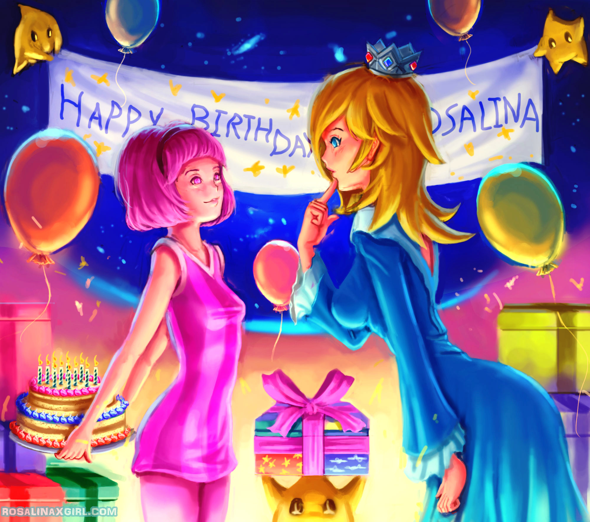 nintendo mario princess rosalina birthday crossover gift lazy town stephanie